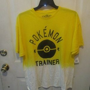 POKEMON TRAINER OFFICIAL ADULT SIZE T-SHIRT L NEW